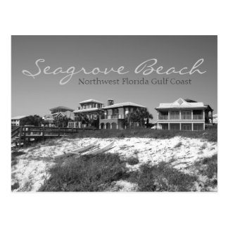 Seagrove Beach - Northwest Florida Black & White Postcard