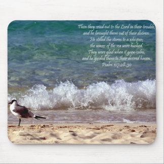 Seagull and Crashing Waves Mousepad