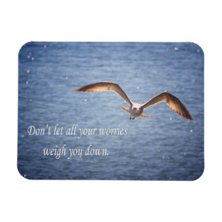 Seagull and Inspirational Words Magnet