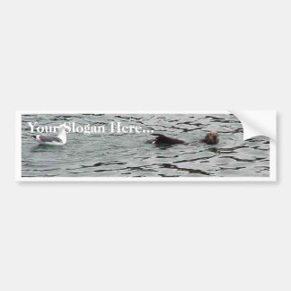 Seagull And Seal In Water Bumper Sticker