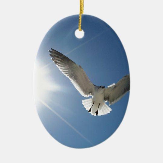 Seagull and Sunligh Ceramic Ornament