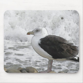 Seagull and Surf Mouse Pad
