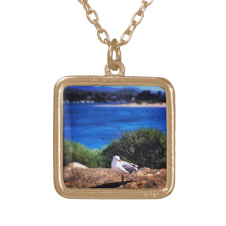Seagull And Water Necklace