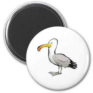 Seagull au naturel 2 inch round magnet