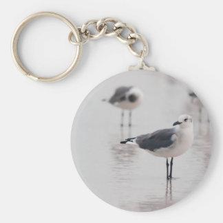 Seagull Basic Round Button Keychain
