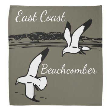 Beach Themed Seagull Beach East Coast Beachcomber bandanna