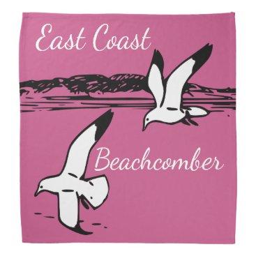 Beach Themed Seagull Beach East Coast Beachcomber bandanna
