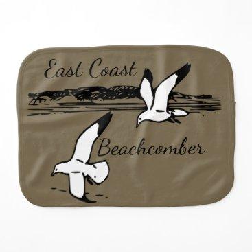 Beach Themed Seagull Beach East Coast Beachcomber burp cloth