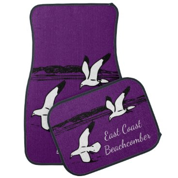 Beach Themed Seagull Beach East Coast Beachcomber car mats