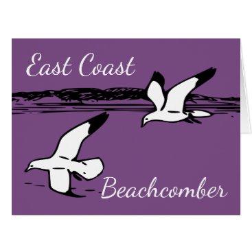 Beach Themed Seagull Beach East Coast Beachcomber  card