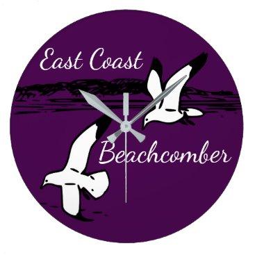 Beach Themed Seagull Beach East Coast Beachcomber clock