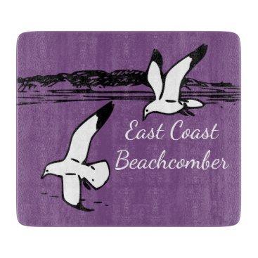Beach Themed Seagull Beach East Coast Beachcomber cutting board