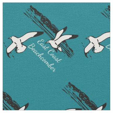 Beach Themed Seagull Beach East Coast Beachcomber fabric