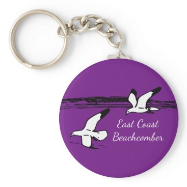 Beach Themed Seagull Beach East Coast Beachcomber key chain