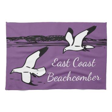 Beach Themed Seagull Beach East Coast Beachcomber kitchen towel