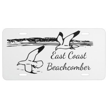Seagull Beach East Coast Beachcomber license plate