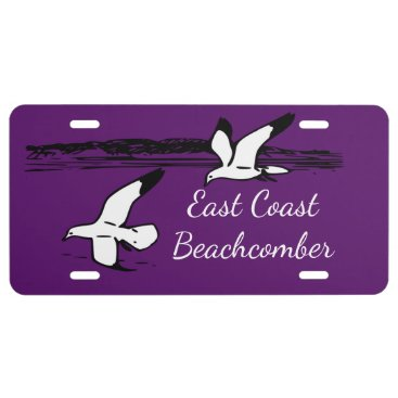 Beach Themed Seagull Beach East Coast Beachcomber license plate