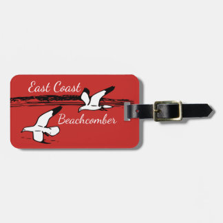 Seagull Beach East Coast Beachcomber luggage tag