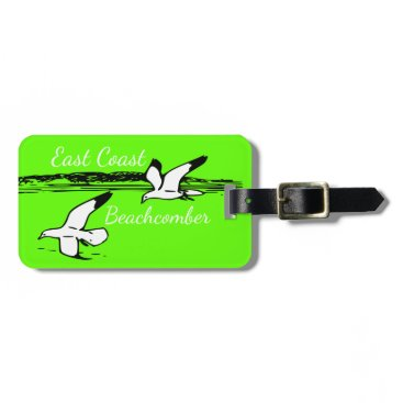 Beach Themed Seagull Beach East Coast Beachcomber luggage tag