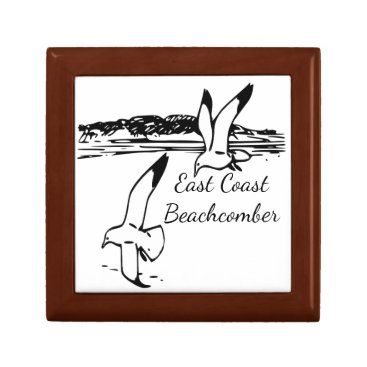 Beach Themed Seagull Beach East Coast Beachcomber memory box