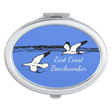 Beach Themed Seagull Beach East Coast Beachcomber mirror