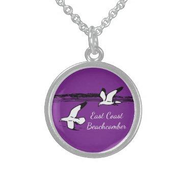 Beach Themed Seagull Beach East Coast Beachcomber necklace