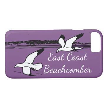 Beach Themed Seagull Beach East Coast Beachcomber phone case