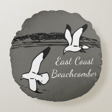 Beach Themed Seagull Beach East Coast Beachcomber pillow
