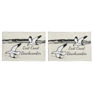 Beach Themed Seagull Beach East Coast Beachcomber pillow cases