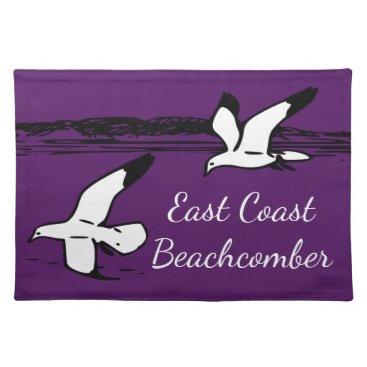 Beach Themed Seagull Beach East Coast Beachcomber place mat