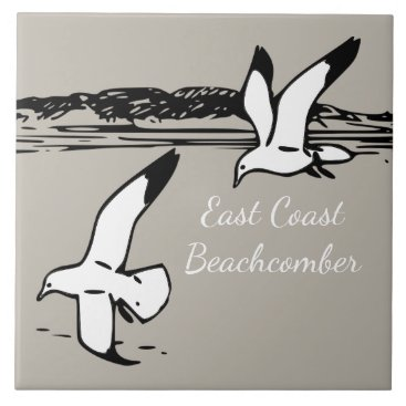 Beach Themed Seagull Beach East Coast Beachcomber  tile