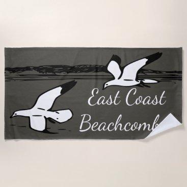Beach Themed Seagull Beach East Coast Beachcomber towel