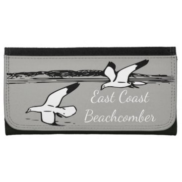 Beach Themed Seagull Beach East Coast Beachcomber wallet