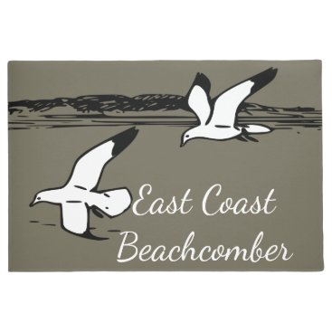 Beach Themed Seagull Beach East Coast Beachcomber welcome mat