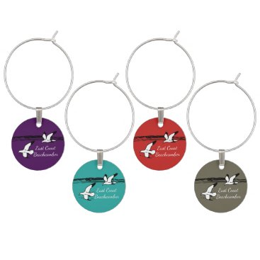 Beach Themed Seagull Beach East Coast Beachcomber wine charm