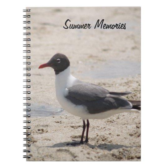 Seagull Beach Sand Summer Memories Photograph Notebook
