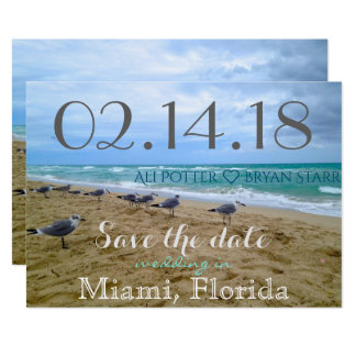 Seagull Beach Save the Date Card