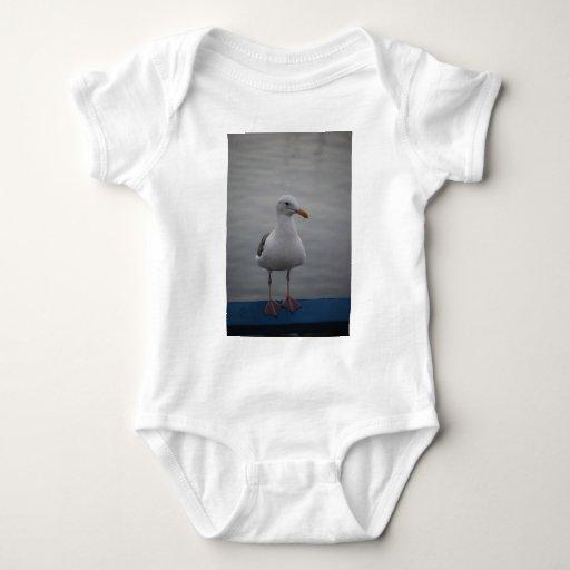 Seagull bird baby bodysuit