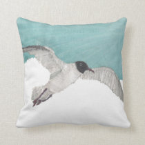 Seagull, Bird, Coastal Pillow