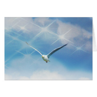 Seagull Bird in Flight Photo Stationery Note Card