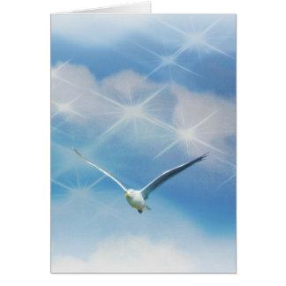 Seagull Bird in Flight Photo Card