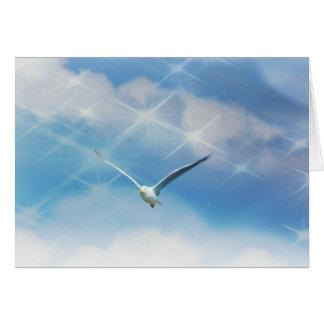 Seagull Bird in Flight Photo Greeting Card