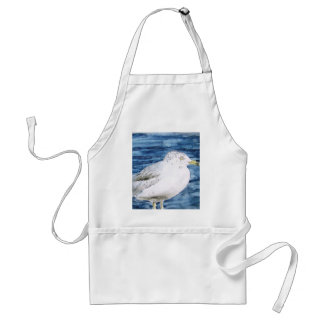 seagull birds seagulls watercolor painting art adult apron