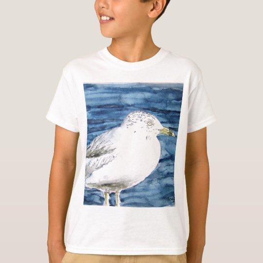 seagull birds seagulls watercolor painting art T-Shirt