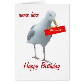 Seagull Birthday Day Card any person