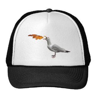 Seagull Breathing Fire Trucker Hat