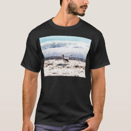 seagull by the ocean on the beach picture T-Shirt
