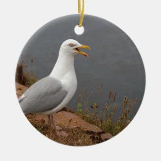 Seagull Ceramic Ornament