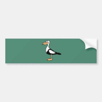 Seagull cute animal motifs bumper sticker