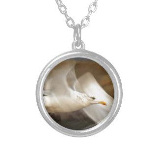 Seagull Design Round Pendant Necklace